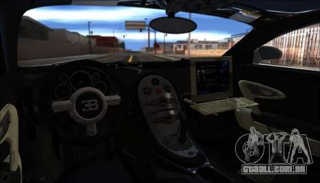 Bugatti Veyron 16.4 Dubai Polícia De 2009 para GTA San Andreas vista traseira