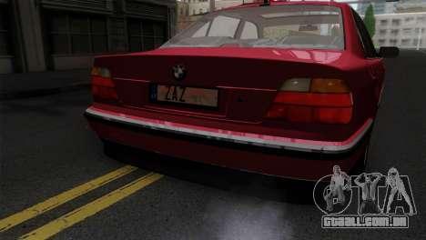 BMW 750iL E38 para GTA San Andreas vista traseira