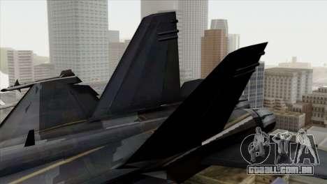 FA-18 HARV para GTA San Andreas traseira esquerda vista
