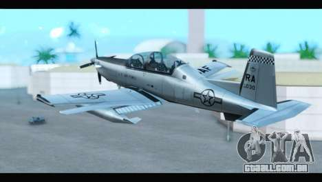 Beechcraft T-6 Texan II US Air Force 3 para GTA San Andreas esquerda vista
