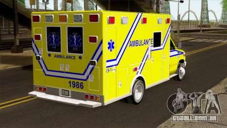 Ford F-450 2014 Quebec Ambulance para GTA San Andreas esquerda vista