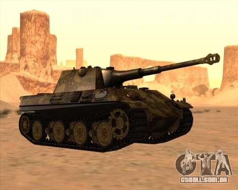 Pz.Kpfw. V Panther II Desert Camo para GTA San Andreas vista interior