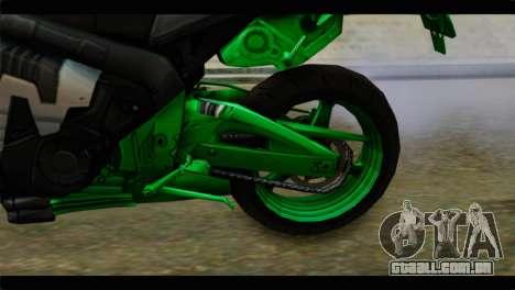 Honda CBR1000RR para GTA San Andreas vista traseira