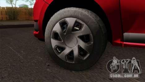 Dacia Logan MCV 2013 HQLM para GTA San Andreas traseira esquerda vista