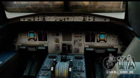 Airbus A320-200 OLT Express para GTA San Andreas vista direita