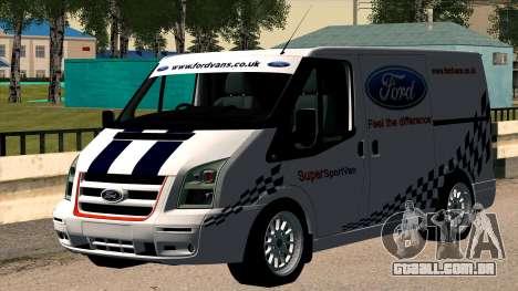 Ford Transit para GTA San Andreas vista direita