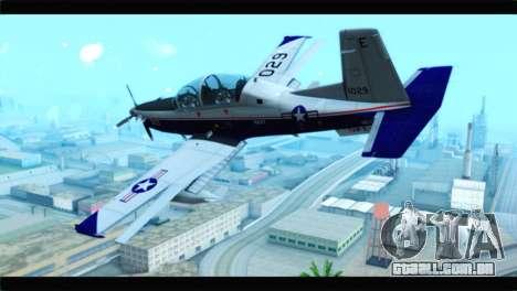 Beechcraft T-6 Texan II  United States Navy para GTA San Andreas esquerda vista