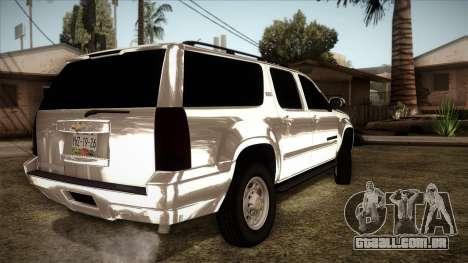 Chevrolet Suburban Plateada para GTA San Andreas esquerda vista