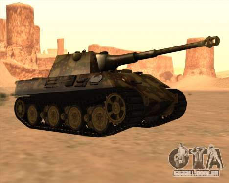 Pz.Kpfw. V Panther II Desert Camo para GTA San Andreas vista traseira