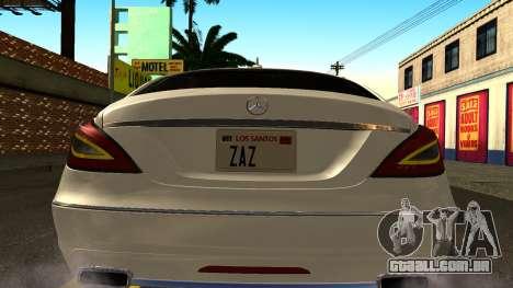 Mercedes-Benz CLS 350 2011 para GTA San Andreas vista interior