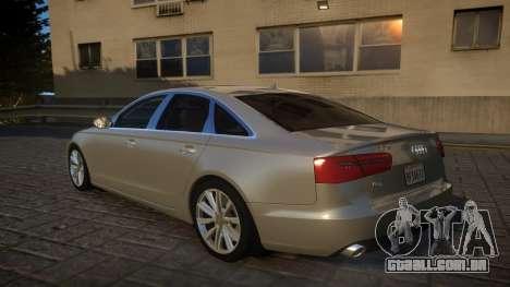 Audi A6 2012 v1.0 para GTA 4 traseira esquerda vista