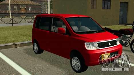Mitsubishi eK Wagon para GTA San Andreas vista direita