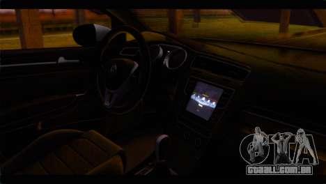 Volkswagen Golf 7 para GTA San Andreas vista direita