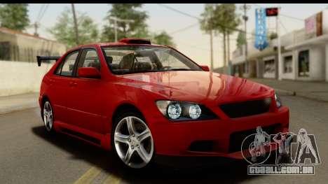 Lexus IS300 Tunable para GTA San Andreas interior