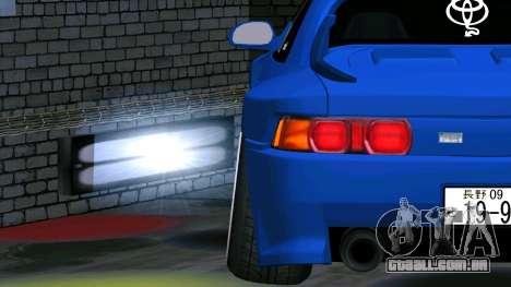 Toyota MR2 para GTA San Andreas vista traseira