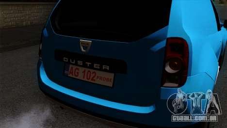 Dacia Duster Van para GTA San Andreas vista traseira