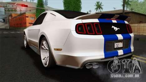 Ford Shelby 2014 para GTA San Andreas esquerda vista