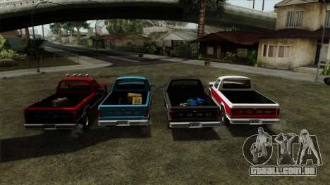 Ford F-150 1982 Final para GTA San Andreas vista traseira