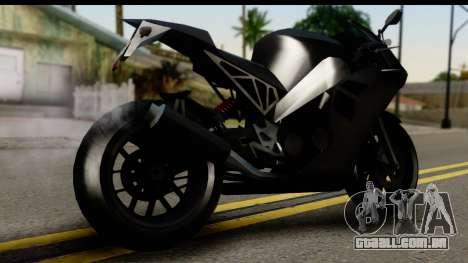 GTA 5 Carbon RS para GTA San Andreas esquerda vista