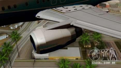 Boeing B737-800 Pilot Life Boeing Merge para GTA San Andreas vista direita