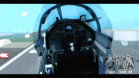 Beechcraft T-6 Texan II US Air Force 3 para GTA San Andreas vista traseira