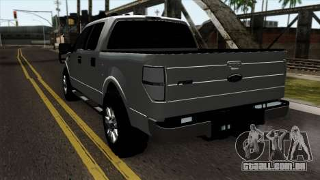 Ford F-150 4X4 Off Road para GTA San Andreas esquerda vista