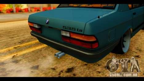 BMW 535is para GTA San Andreas vista traseira