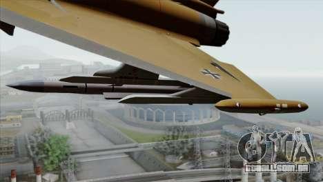 Eurofighter Typhoon Tropical Camo para GTA San Andreas vista direita