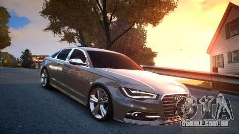 Audi S6 v1.0 2013 para GTA 4 vista de volta