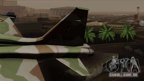Northrop F-5 Estovakian Air Force para GTA San Andreas traseira esquerda vista