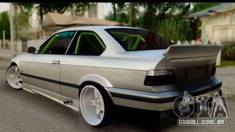 BMW E36 Drift para GTA San Andreas esquerda vista
