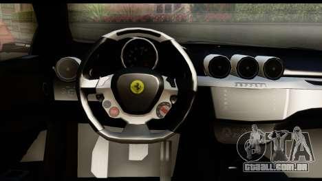 NFS Rivals Ferrari FF para GTA San Andreas vista interior