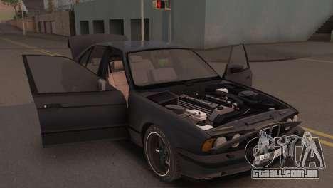 BMW 525i E34 2.0 para GTA San Andreas vista traseira