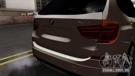 BMW X3 F25 2012 para GTA San Andreas vista traseira