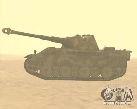 Pz.Kpfw. V Panther II Desert Camo para GTA San Andreas esquerda vista