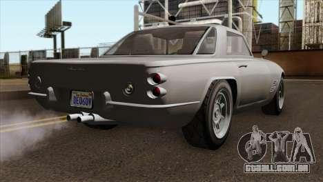 GTA 5 Lampadati Casco IVF para GTA San Andreas esquerda vista