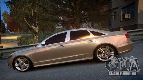 Audi S6 v1.0 2013 para GTA 4 esquerda vista