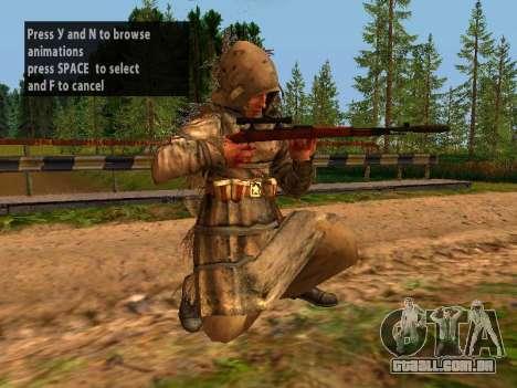 Soviética Sniper para GTA San Andreas nono tela