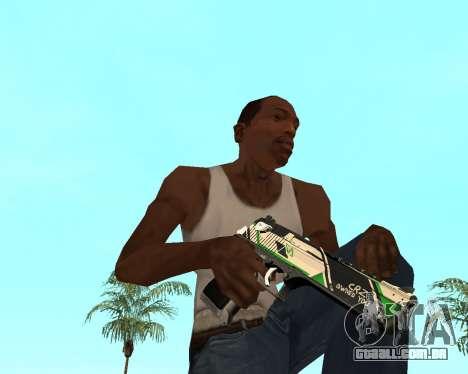 Green Pack Asiimov CS:GO para GTA San Andreas sétima tela