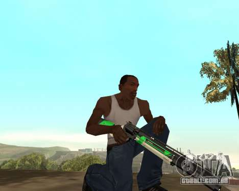 Green Pack Asiimov CS:GO para GTA San Andreas quinto tela