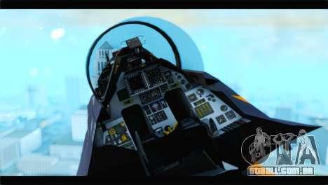 F-16D Fighting Falcon Dutch Demo Team J-015 para GTA San Andreas vista direita