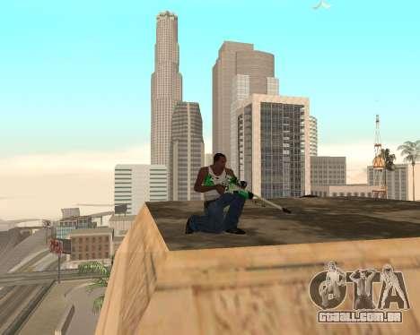Green Pack Asiimov CS:GO para GTA San Andreas por diante tela
