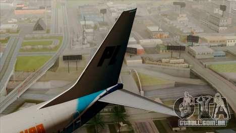 Boeing B737-800 Pilot Life Boeing Merge para GTA San Andreas traseira esquerda vista