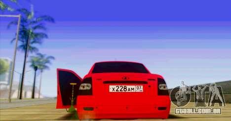 VAZ 2170 O БПАN para GTA San Andreas traseira esquerda vista