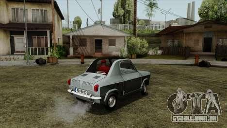 Vespa 400 para GTA San Andreas esquerda vista