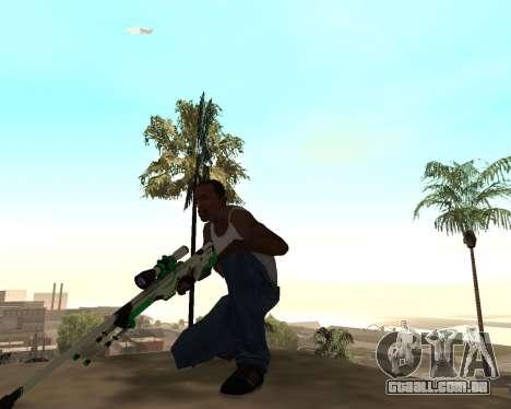 Green Pack Asiimov CS:GO para GTA San Andreas terceira tela