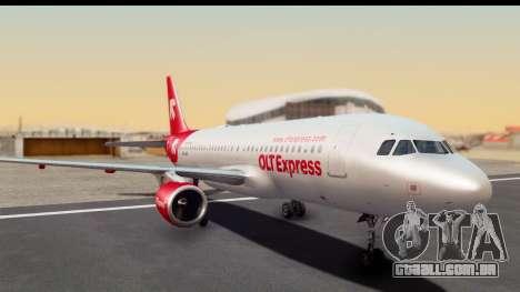 Airbus A320-200 OLT Express para GTA San Andreas traseira esquerda vista