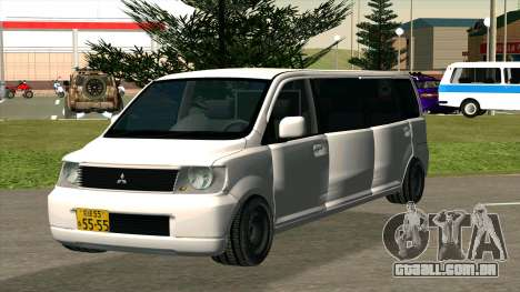 Mitsubishi EK Wagon Limo para GTA San Andreas vista traseira