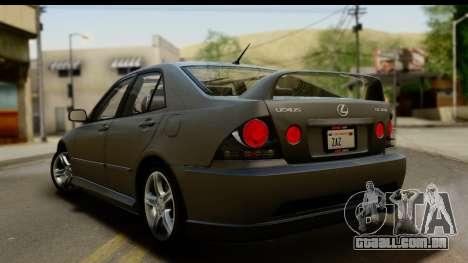 Lexus IS300 Tunable para GTA San Andreas vista inferior