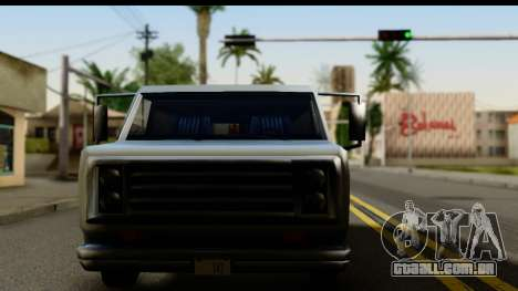 Burney Van para GTA San Andreas traseira esquerda vista